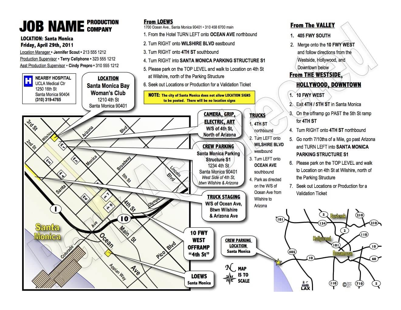 Create custom crew maps for call sheet - 2nd AD Hacks