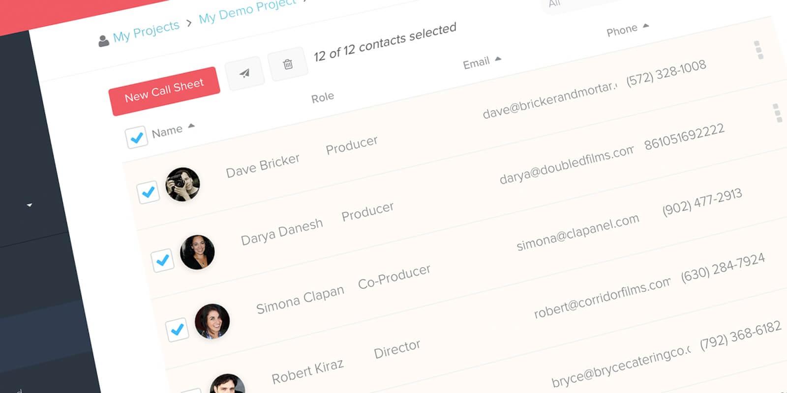 Call Sheet Template Software - Cast List and Film Crew List - StudioBinder