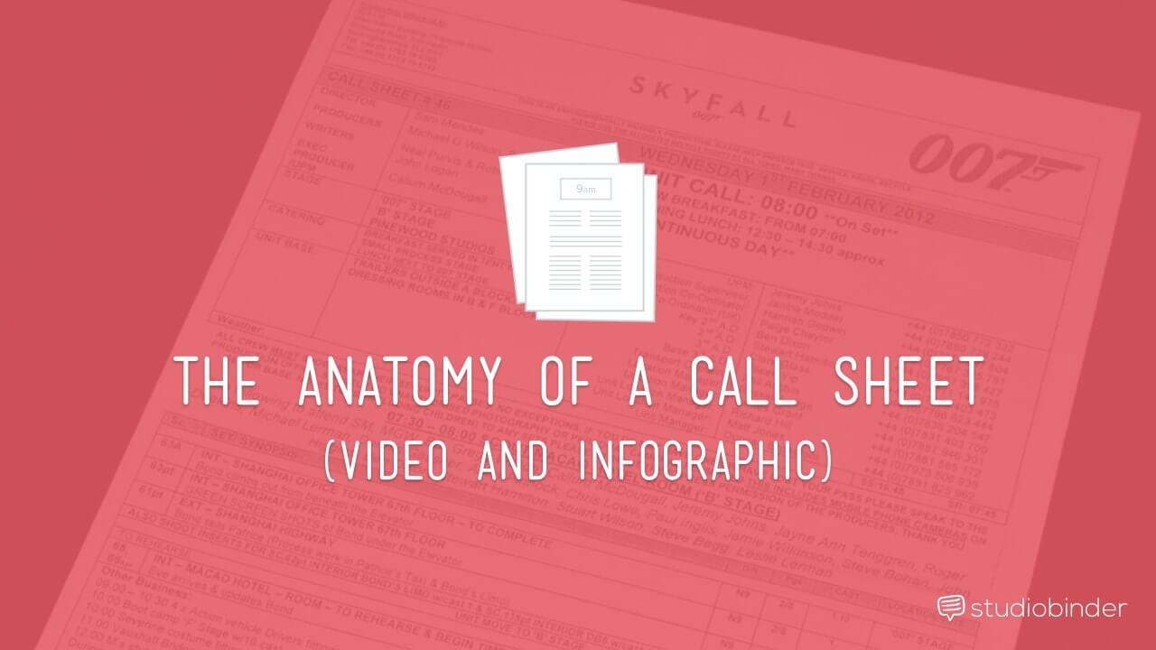 The Anatomy of a Callsheet- How to Make a Call Sheet for Film - StudioBinder-min
