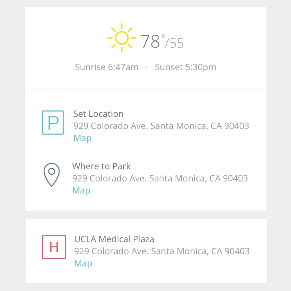 StudioBinder Call Sheet App – Generate Weather and Hospital and Map Links