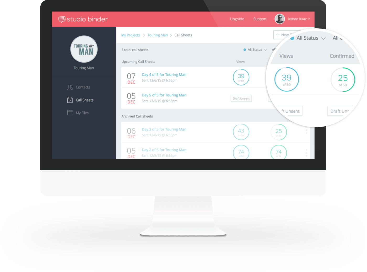 StudioBinder Call Sheet App – Track Call Sheet Confirmations