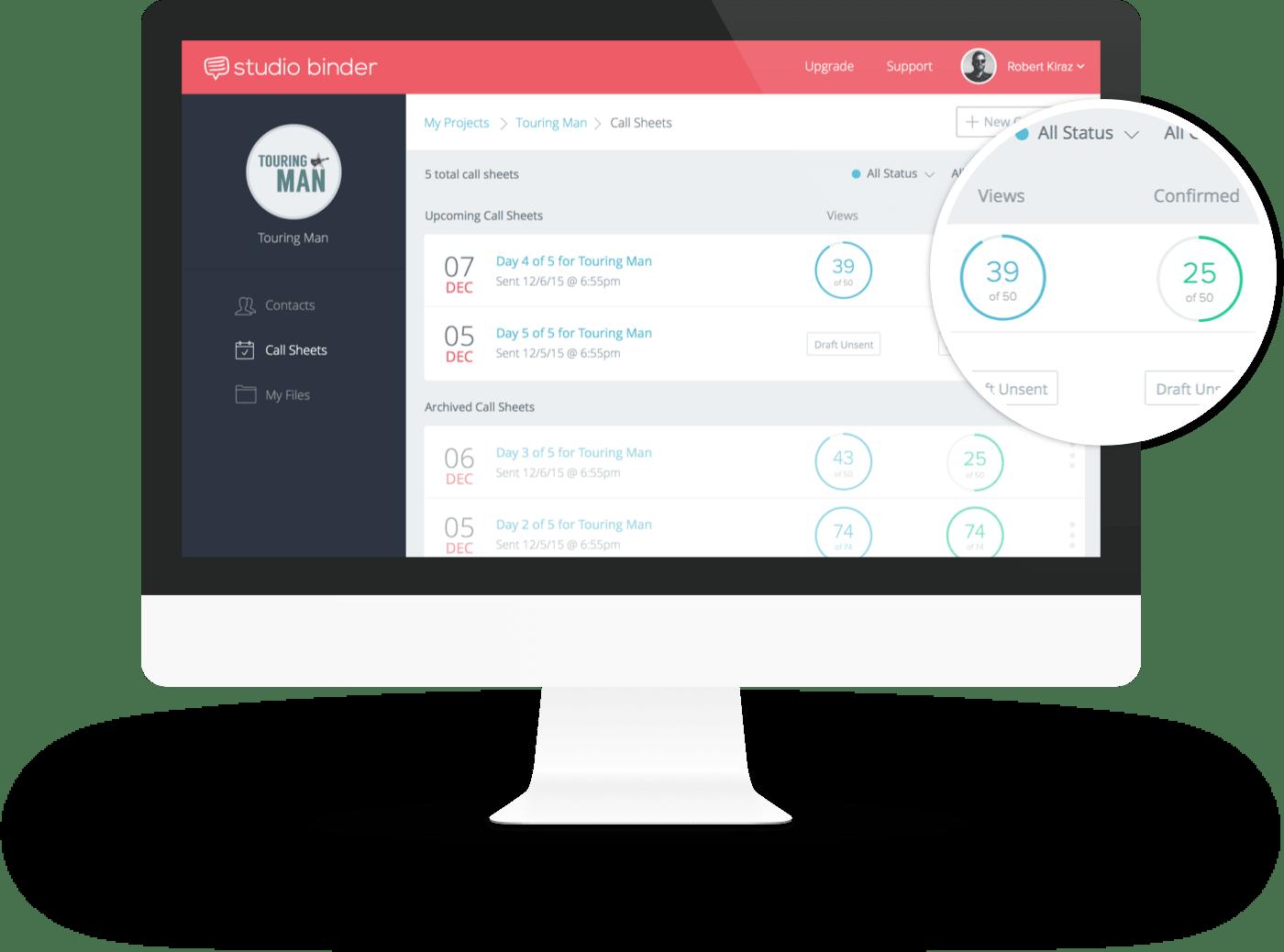 StudioBinder TV Production Software  – Call Sheet Software