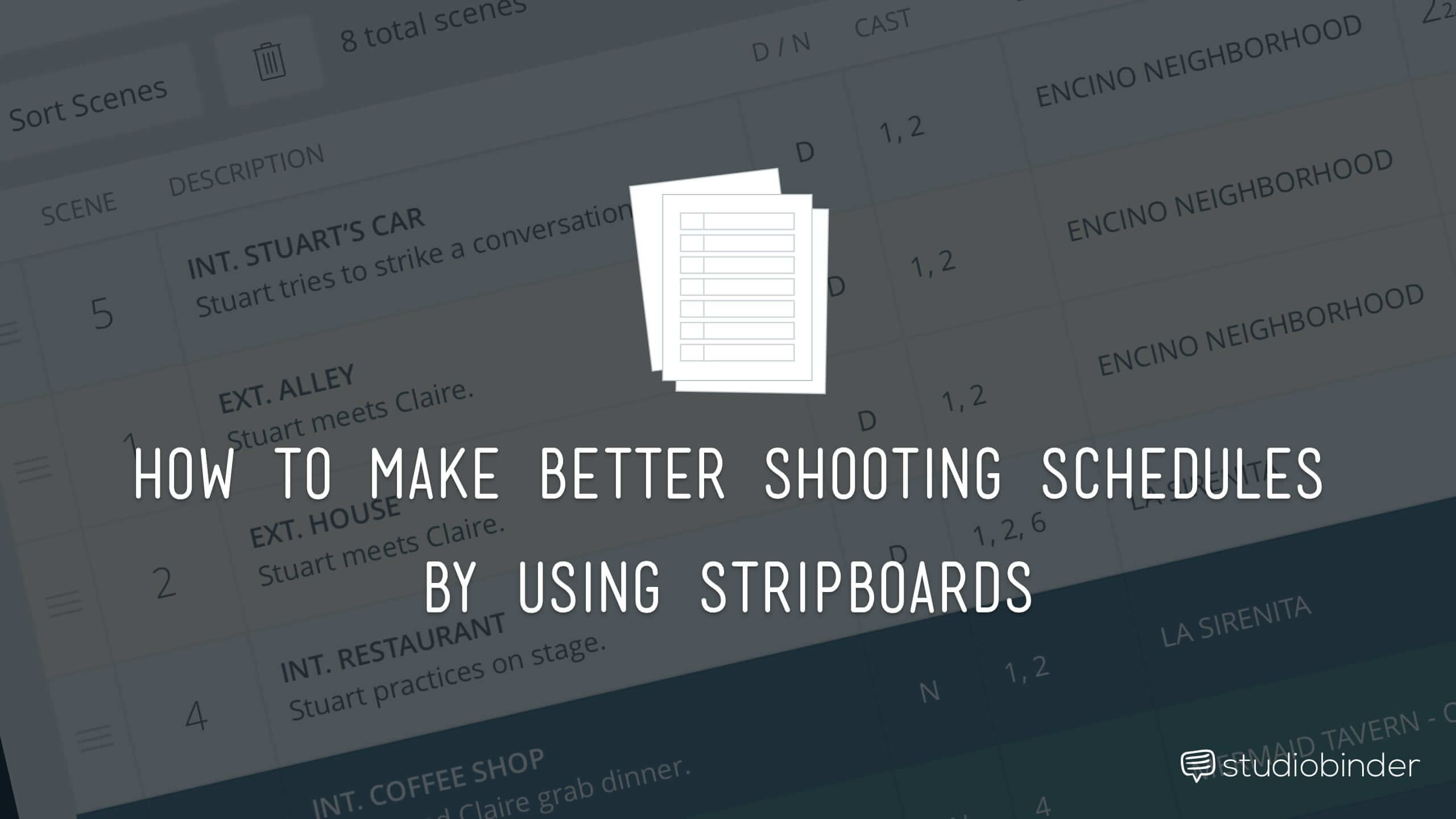How to Make a Better Shooting Schedule Using a Stripboard - StudioBinder-min