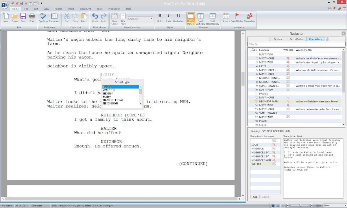 Script Breakdown – Character Report – StudioBinder