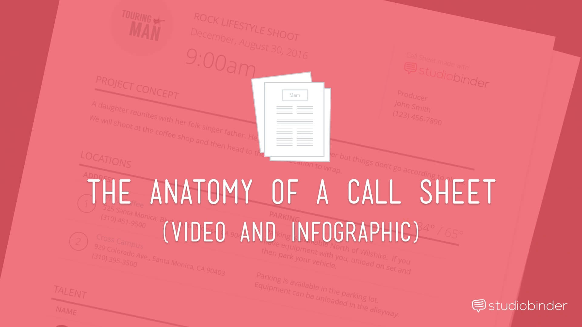 How to Make a Callsheet for Film—Free Example Call Sheet