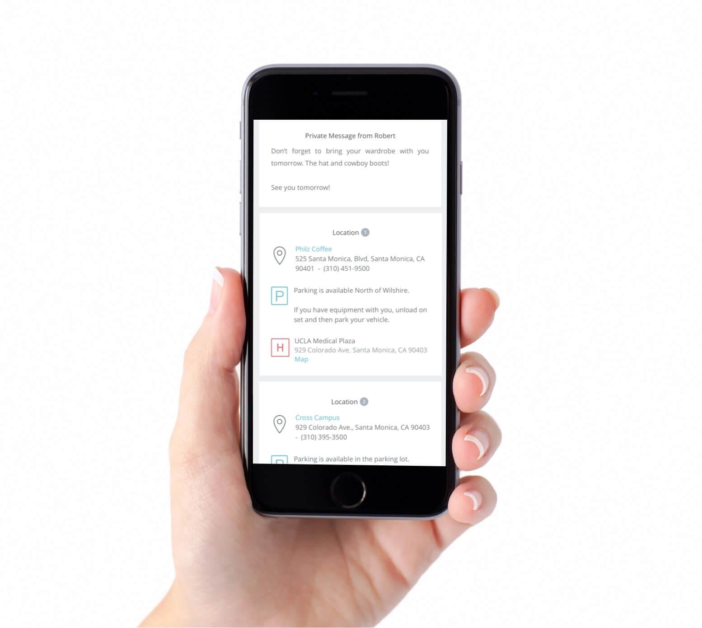 Mobile Call Sheet on Phone - StudioBinder - phone-min