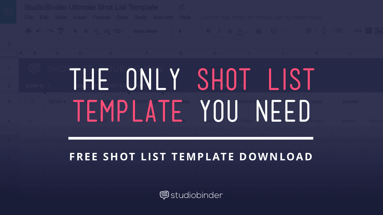 The Only Shot List Template You Need - With Free Shot List Template Download - StudioBinder