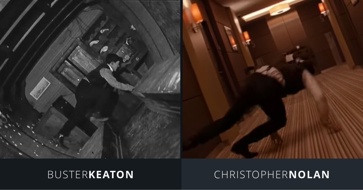 Art of the Gag - Buster Keaton and Christopher Nolan - Rotating Hallways