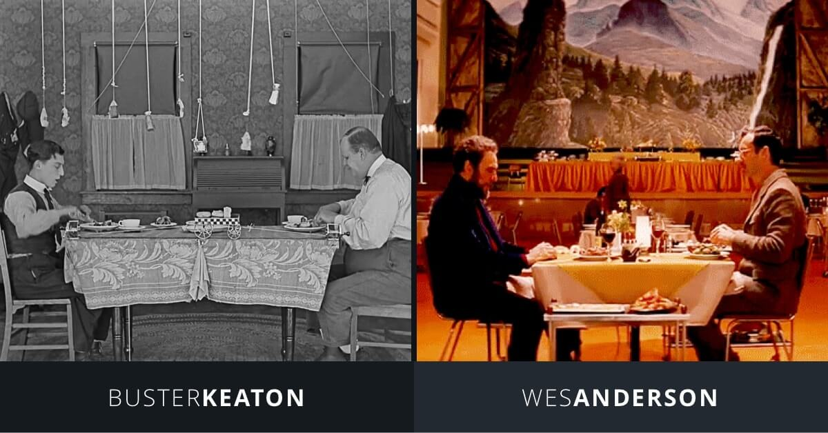 Art of the Gag - Buster Keaton and Wes Anderson - Dinner