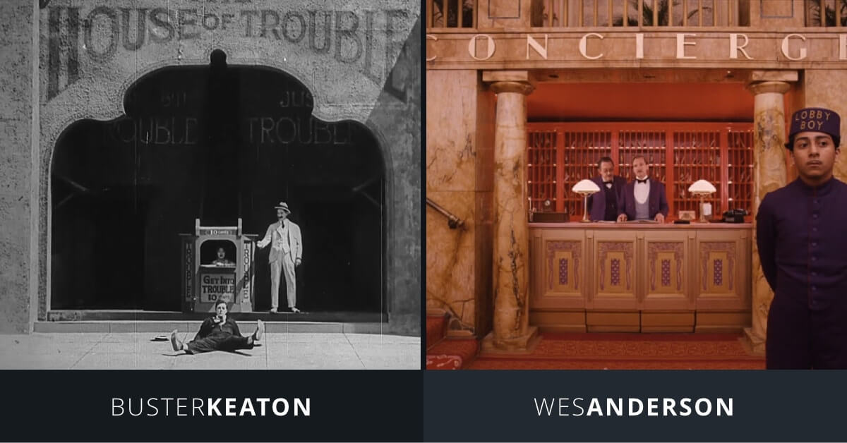 Art of the Gag - Buster Keaton and Wes Anderson - Flat Compositions