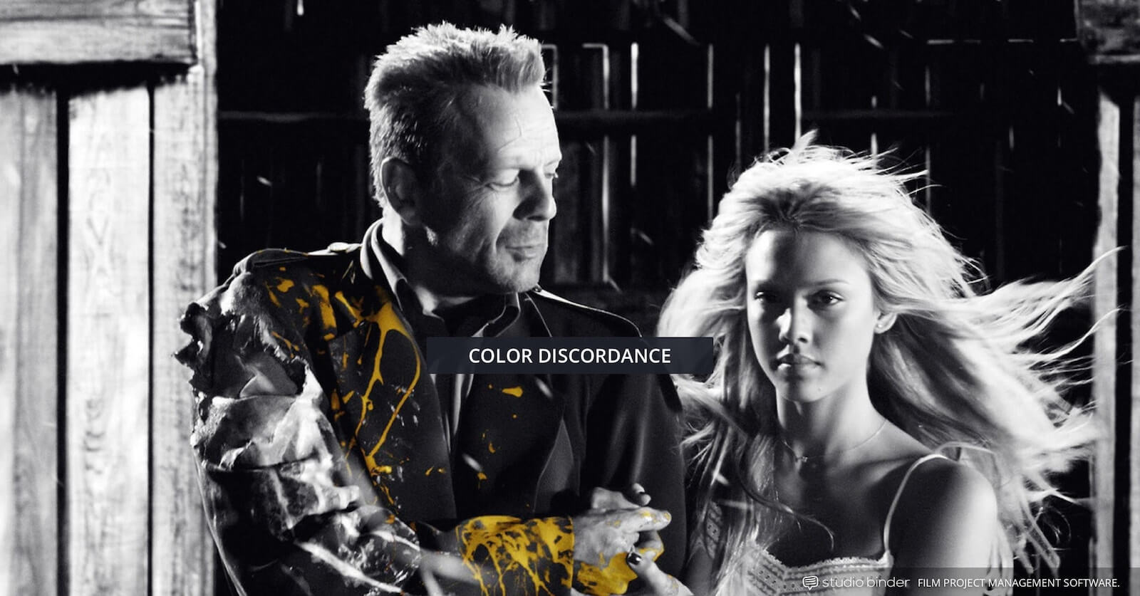 How to Use Color in Film - Example of Movie Color Palette and Scheme - Color Discordance - Sin City-min