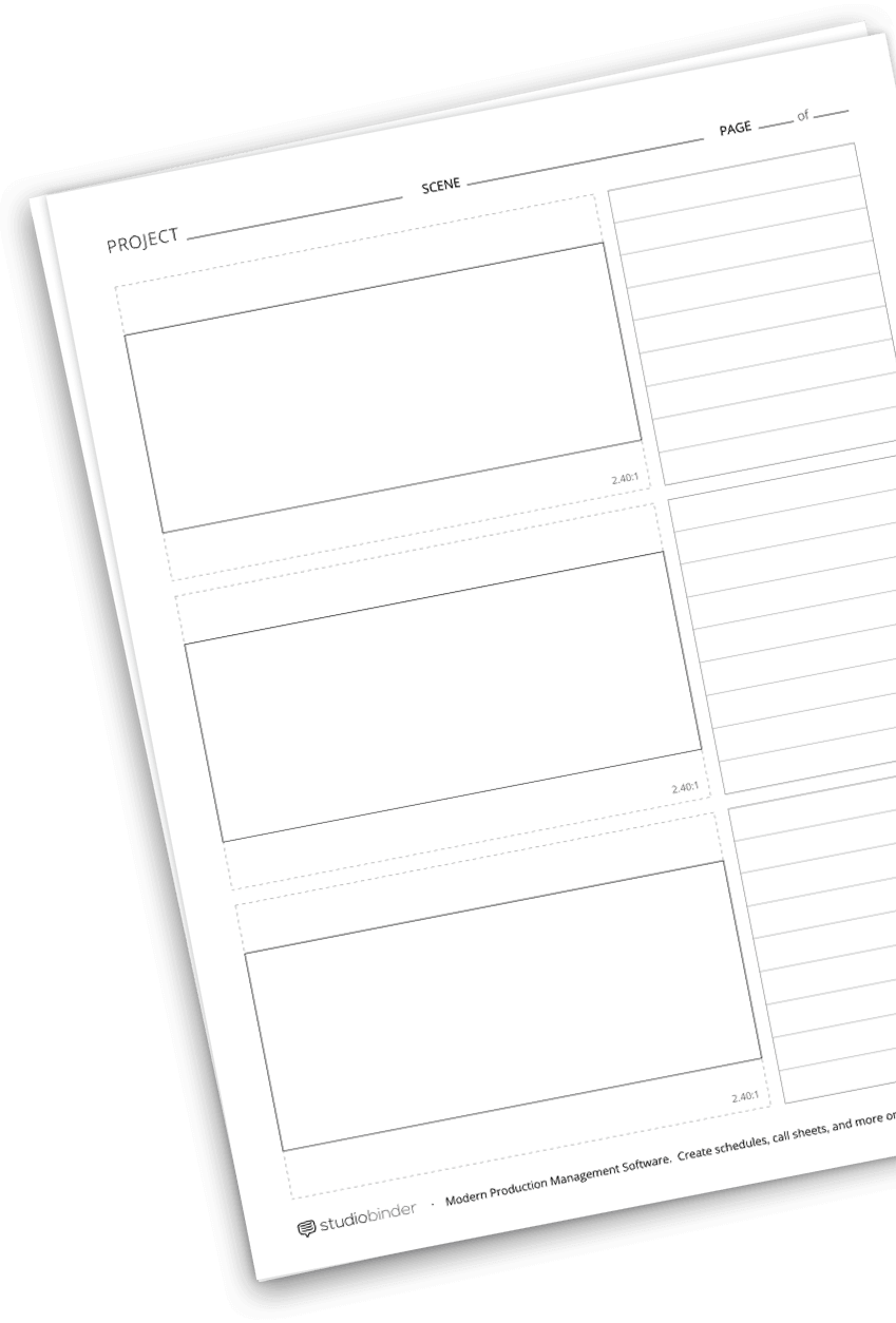 FREE Storyboard Template PDF for Film & Video | StudioBinder