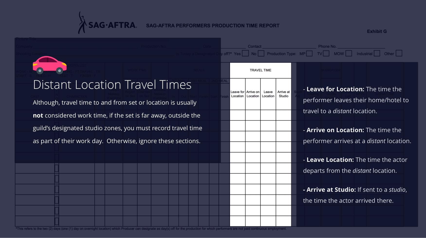 6-SAG Exhibit G - Travel Time - StudioBinder