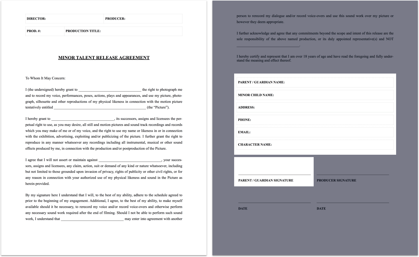 The Complete Guide To Actor Release Forms (FREE Template) Actor Release Form  For Minors StudioBinder Complete Guide Actor Release Form Template Legal ...  Legal Release Form Template