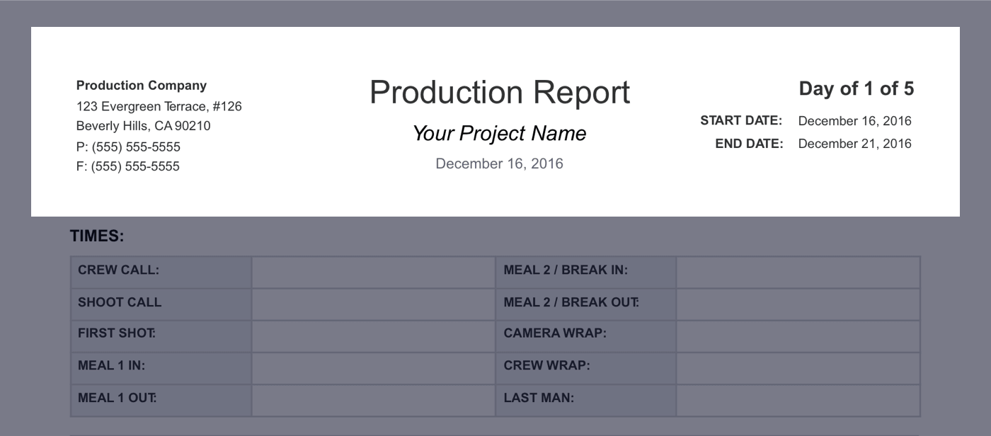 Fill Out The Daily Production Reportu0027s Header Details  Daily Report Format