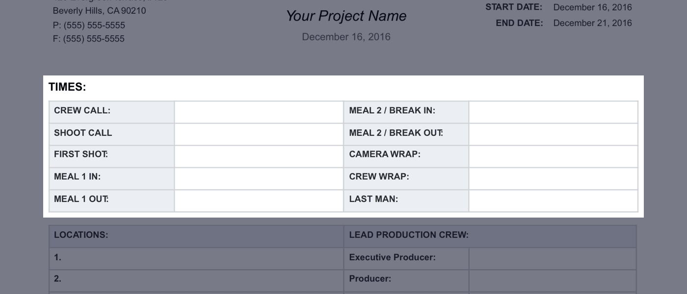 Daily Production Report Template - 02 - StudioBinder