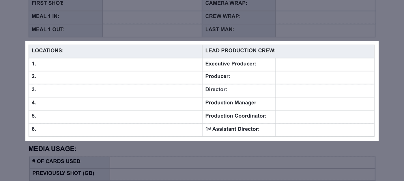 Daily Production Report Template - 03 - StudioBinder