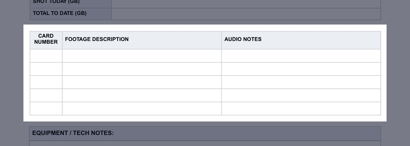 Daily Production Report Template - 05 - StudioBinder