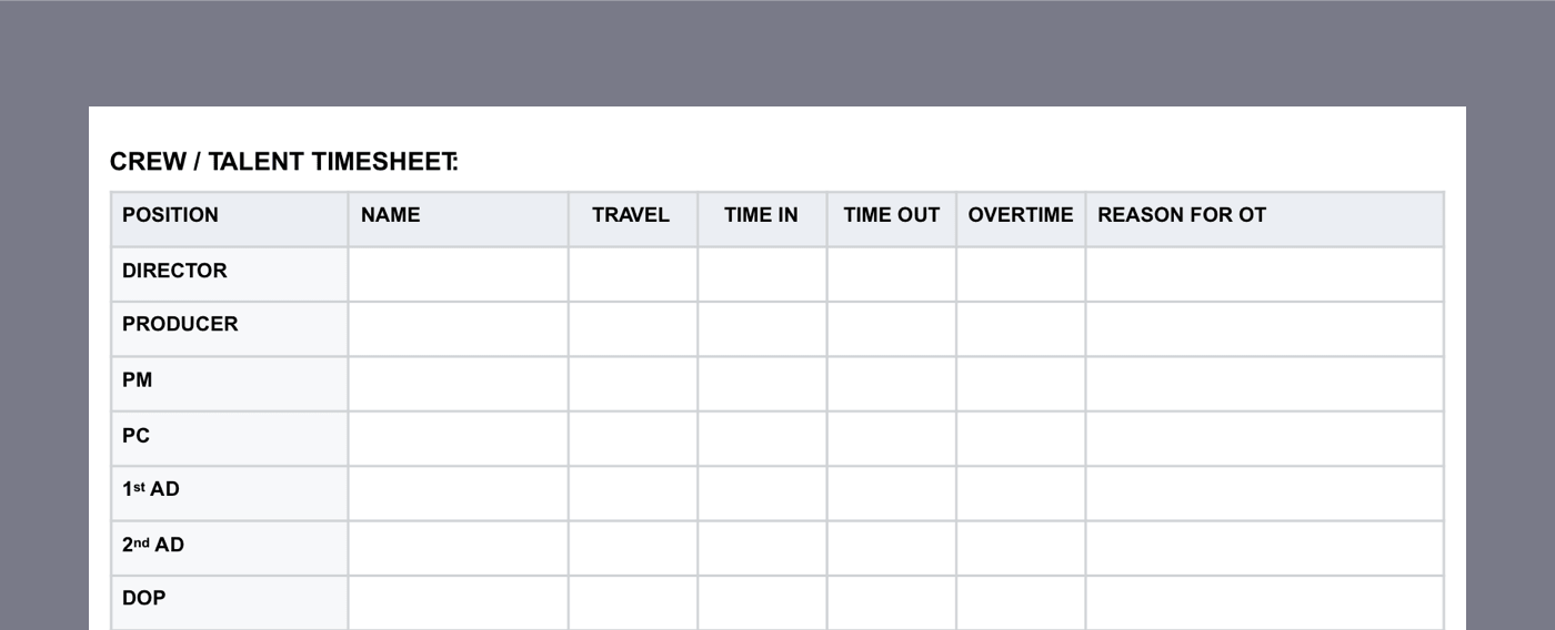 Daily Production Report Template - 07b - StudioBinder