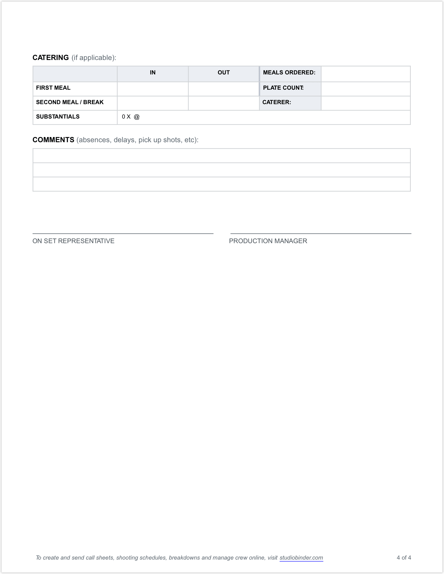 Daily Production Report Template - Page 4 - StudioBinder