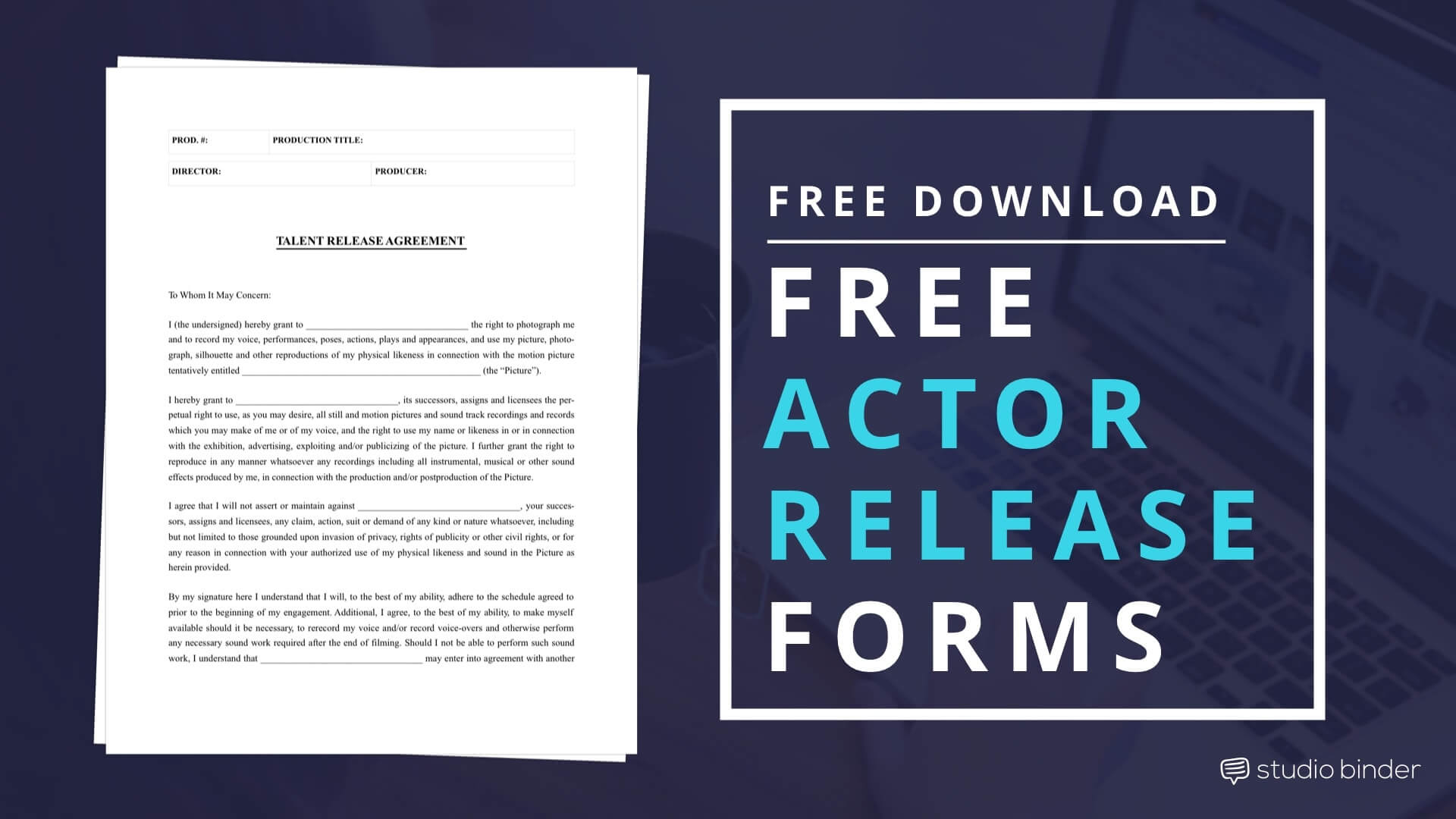 Download a Film Actor Release Form Template, FREE