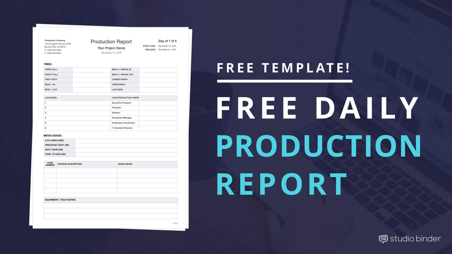 Download Fim Daily Production Report Template - StudioBinder