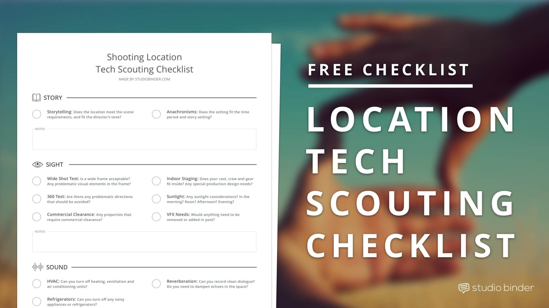 Download Location Scouting Checklist - Featured - StudioBinder