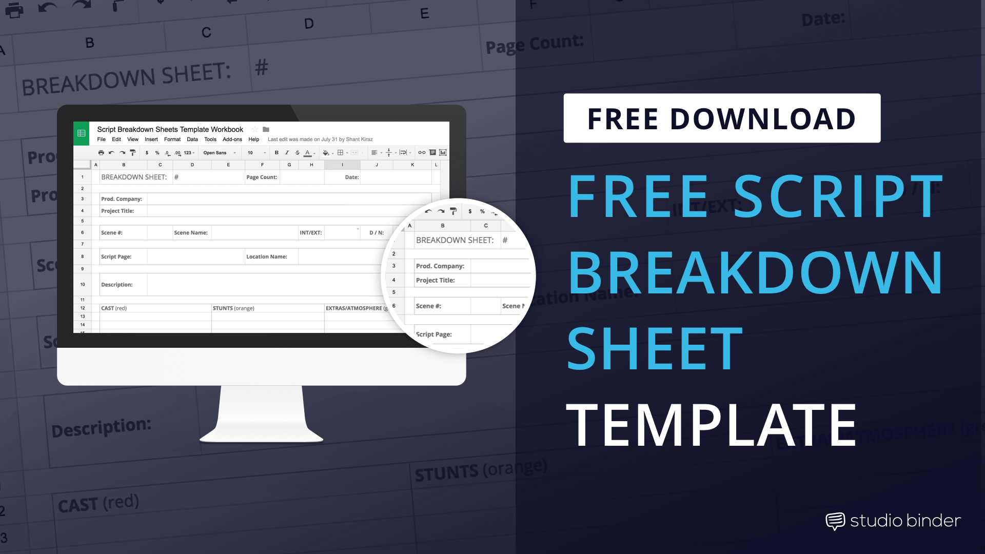 Download Script Breakdown Sheet Template - Featured - StudioBinder