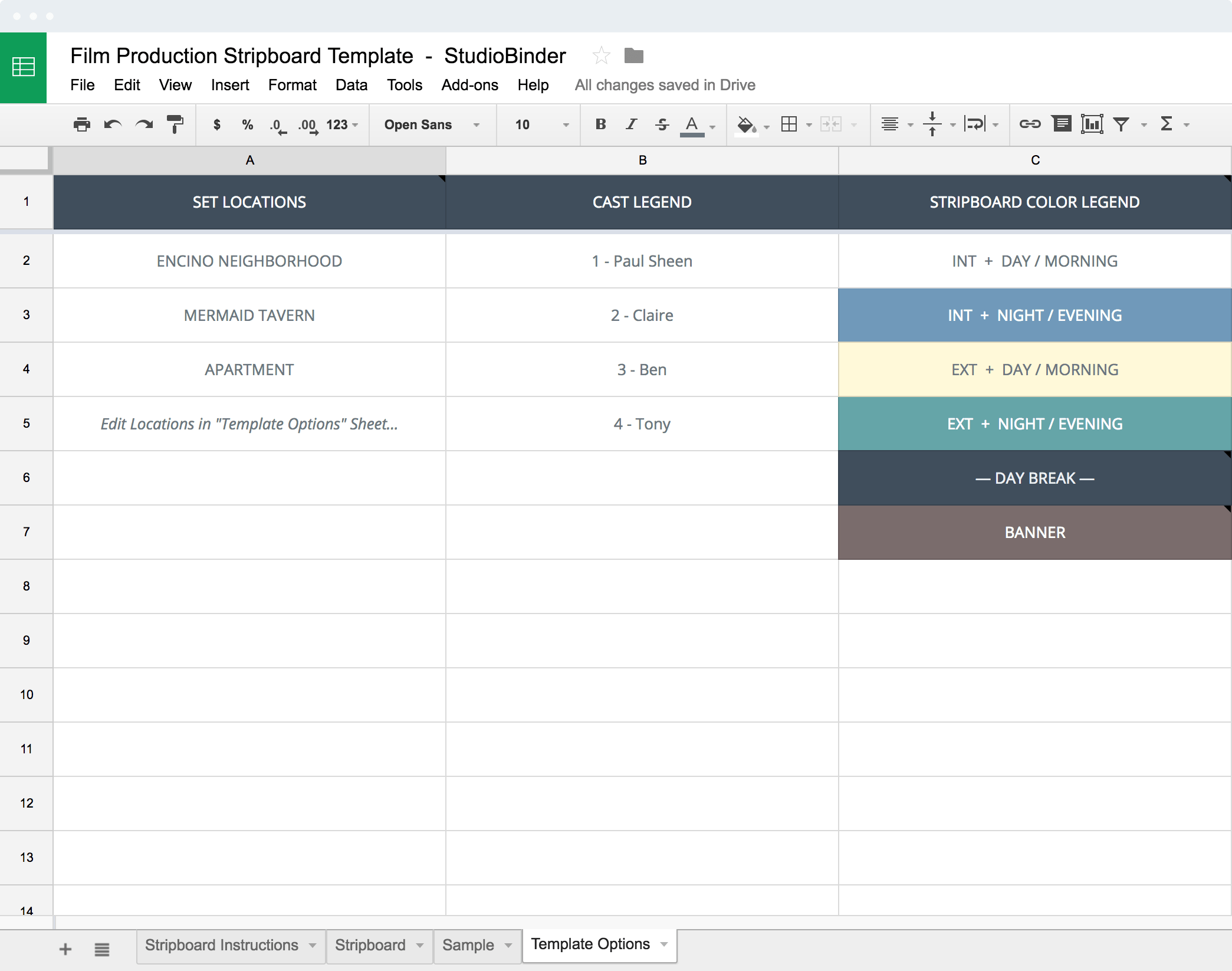 schedule builder template