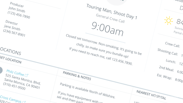 How to Create a Better Call Sheet - The Definitive Call Sheet Guide and Call Sheet Template - Hero Feature