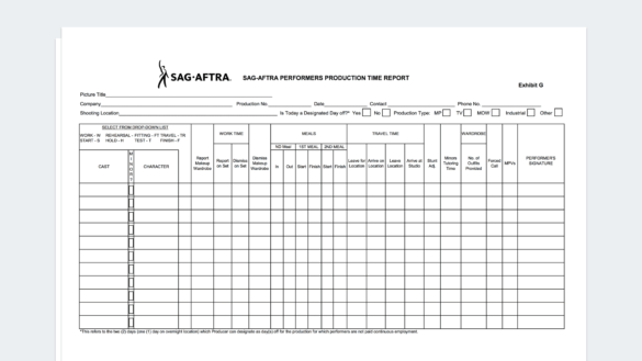 How to Fill Out SAG Exhibit G - A Complete Step-by-Step Guide - Feature
