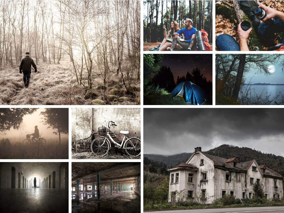 10 Production Design Tips For Filmmakers on a Budget - Moodboard for Horror Film-min