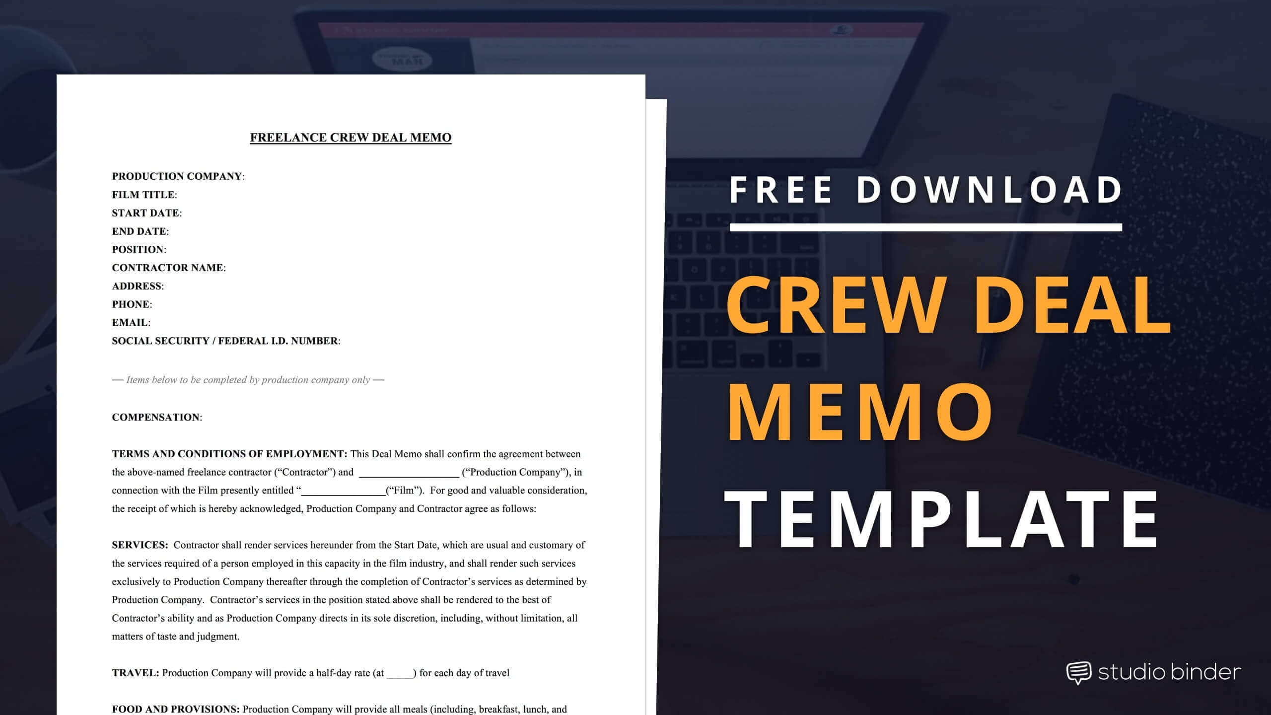 StudioBinder  Download Memo Template