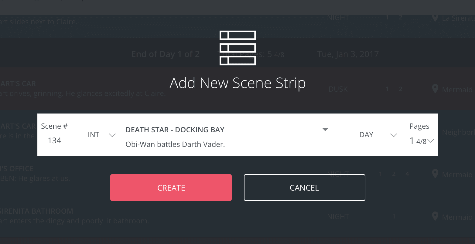 Shooting Schedule Template and Film Scheduling Software - Scene Strip Details - StudioBinder Film Production Management Software