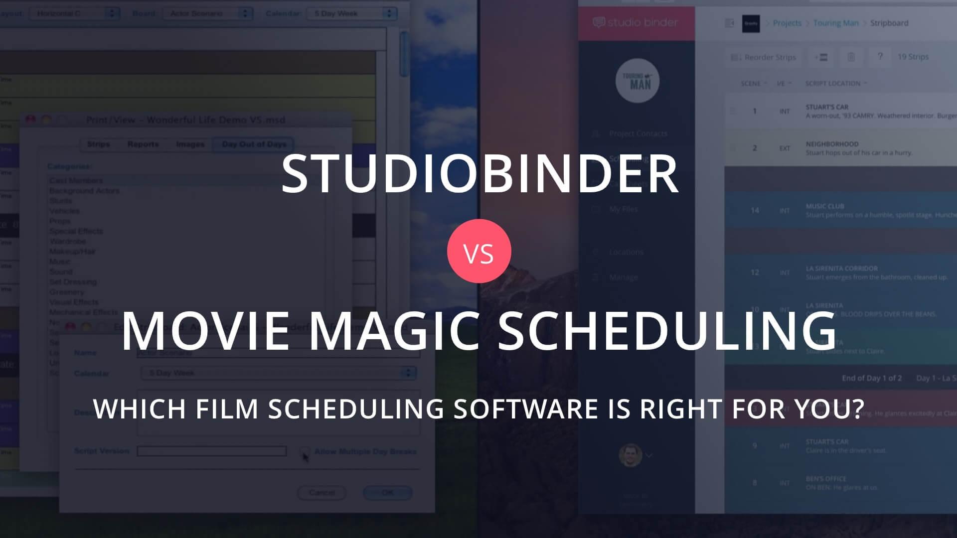 Movie magic budgeting software mac