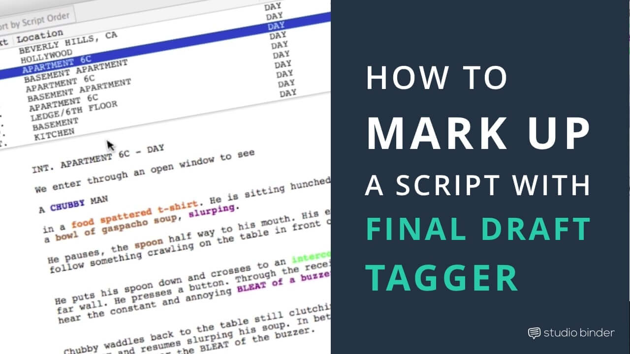 How to Make A Script Breakdown Sheet with Final Draft Tagger - Featured - StudioBinder