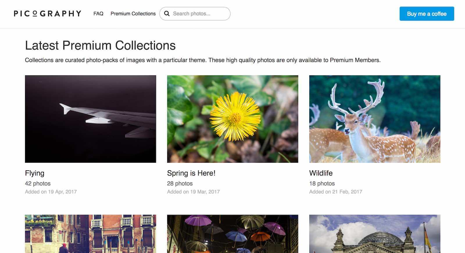 13 Best Stock Photo Sites for Creative Agencies - 8. Picography