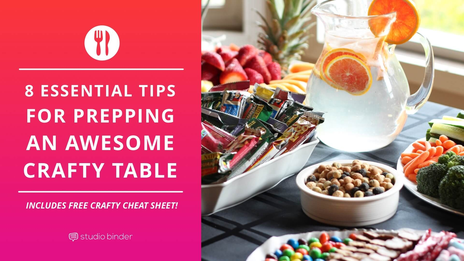 8 Essential Tips for Prepping an Awesome Craft Services Table - Social Image - StudioBinder-min