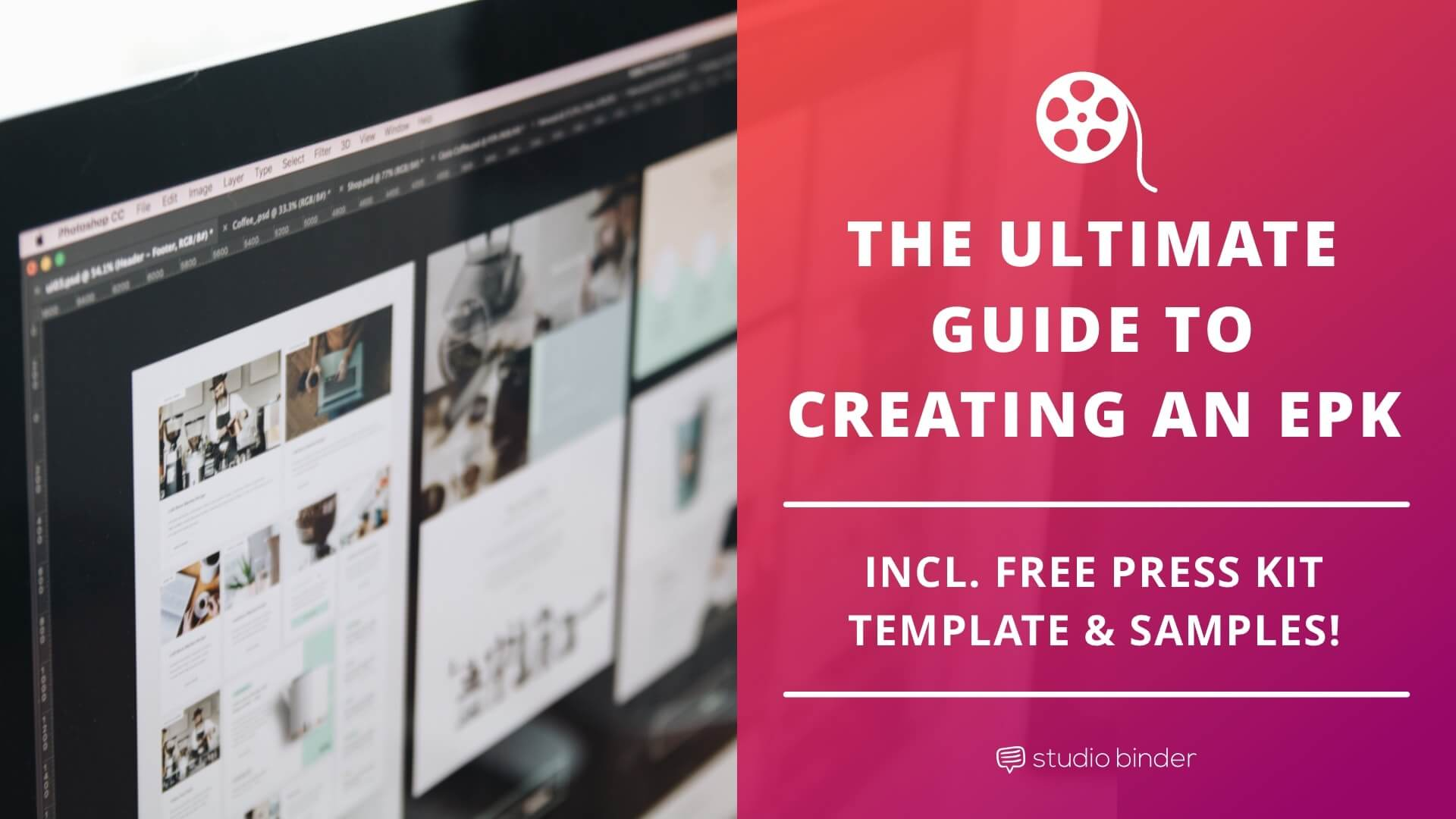 The Ultimate Guide to an EPK Template (with Movie Press Kit Samples) - Featured - StudioBinder