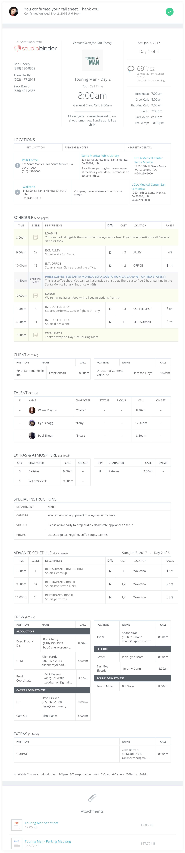 Free Feature Film Call Sheet Template Sample   StudioBinder   Desktop