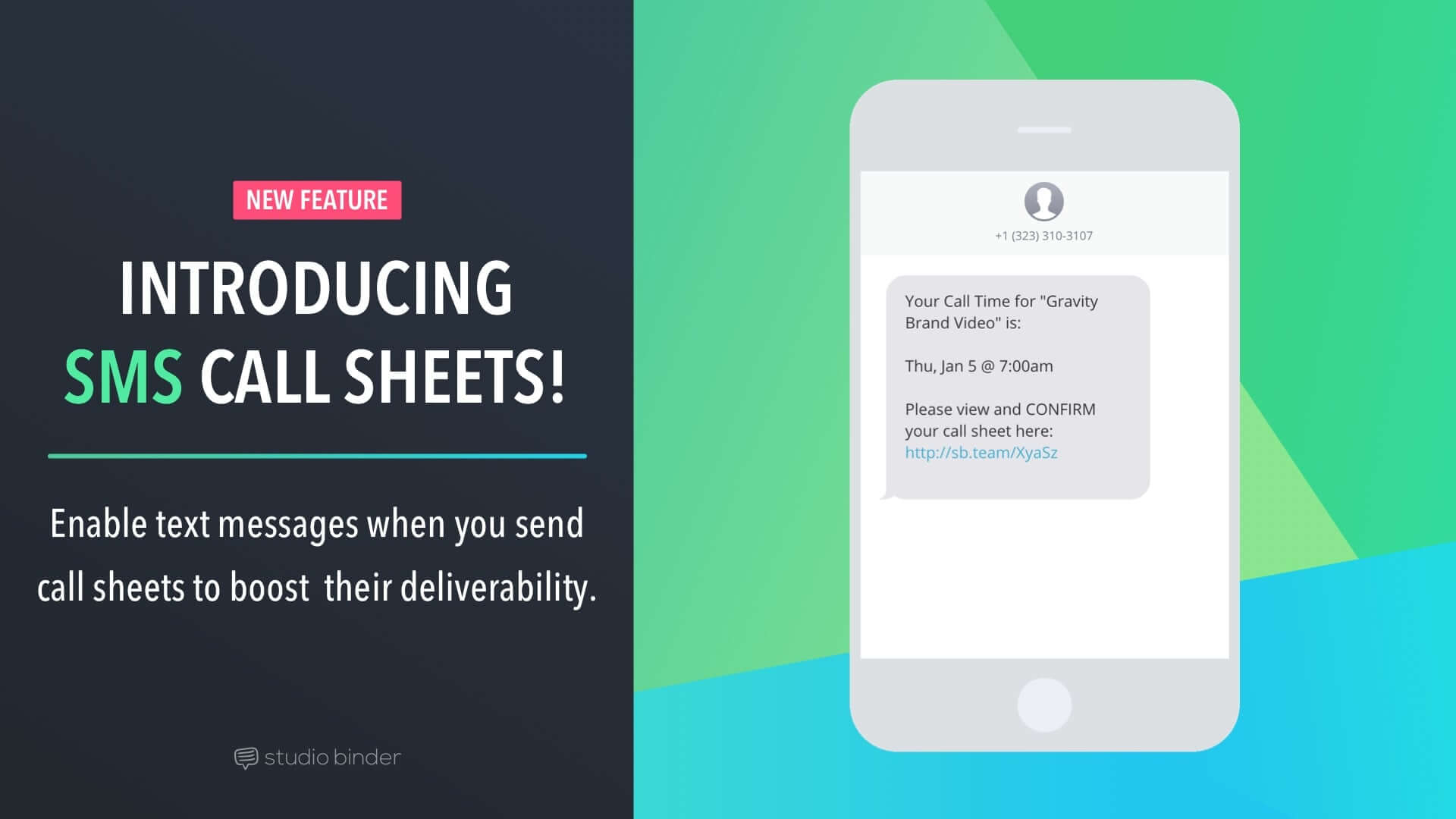 Introducing SMS Call Sheets - The Convenient Way to Send Call Sheets - Featured - StudioBinder