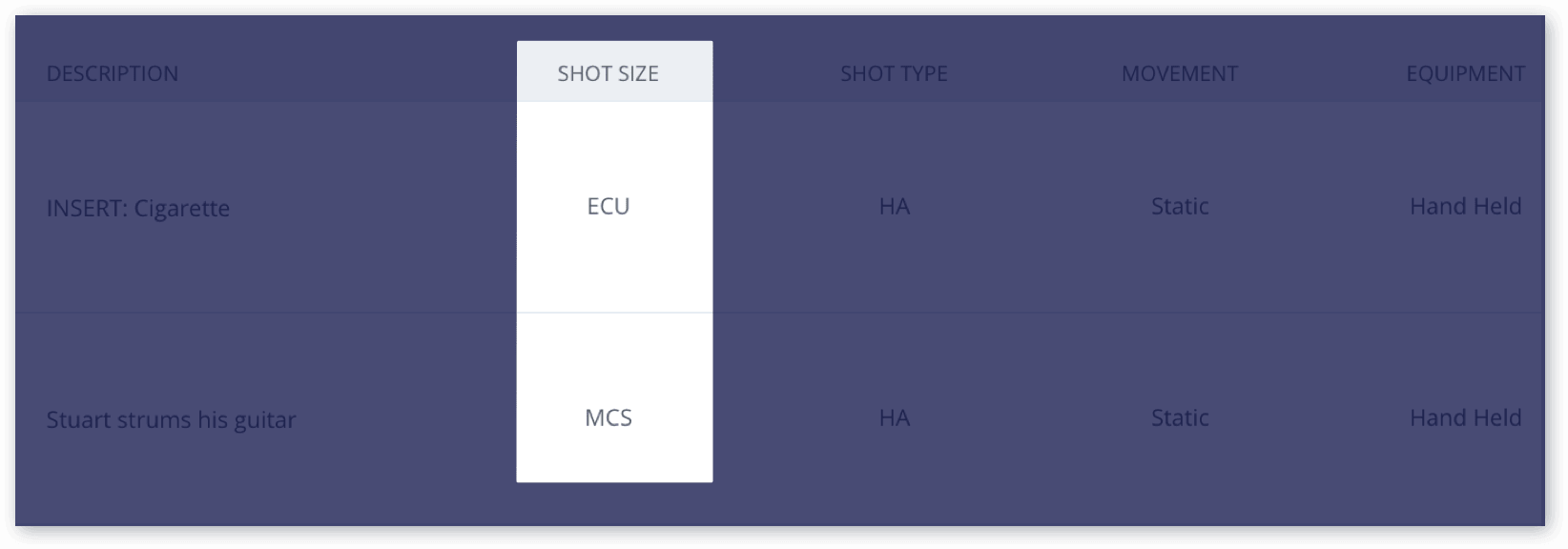 The Only Shot List Template You Need (with Free Download) - Shot Size