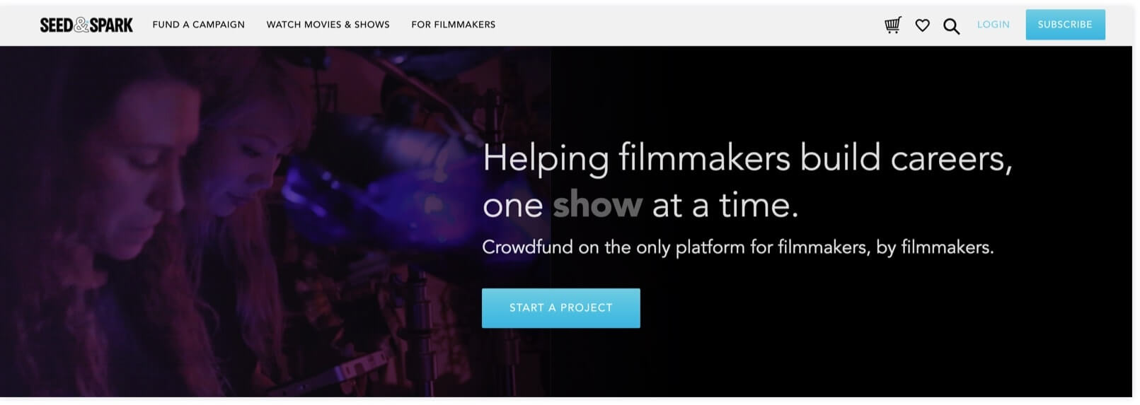 Best Filmmaking Software and Tools - Seed&Spark - StudioBinder