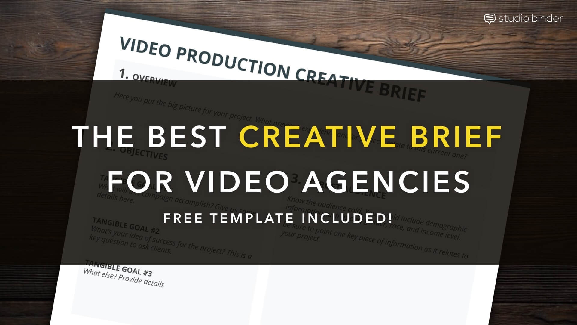 The best creative brief template for video creatives free for Photo brief template