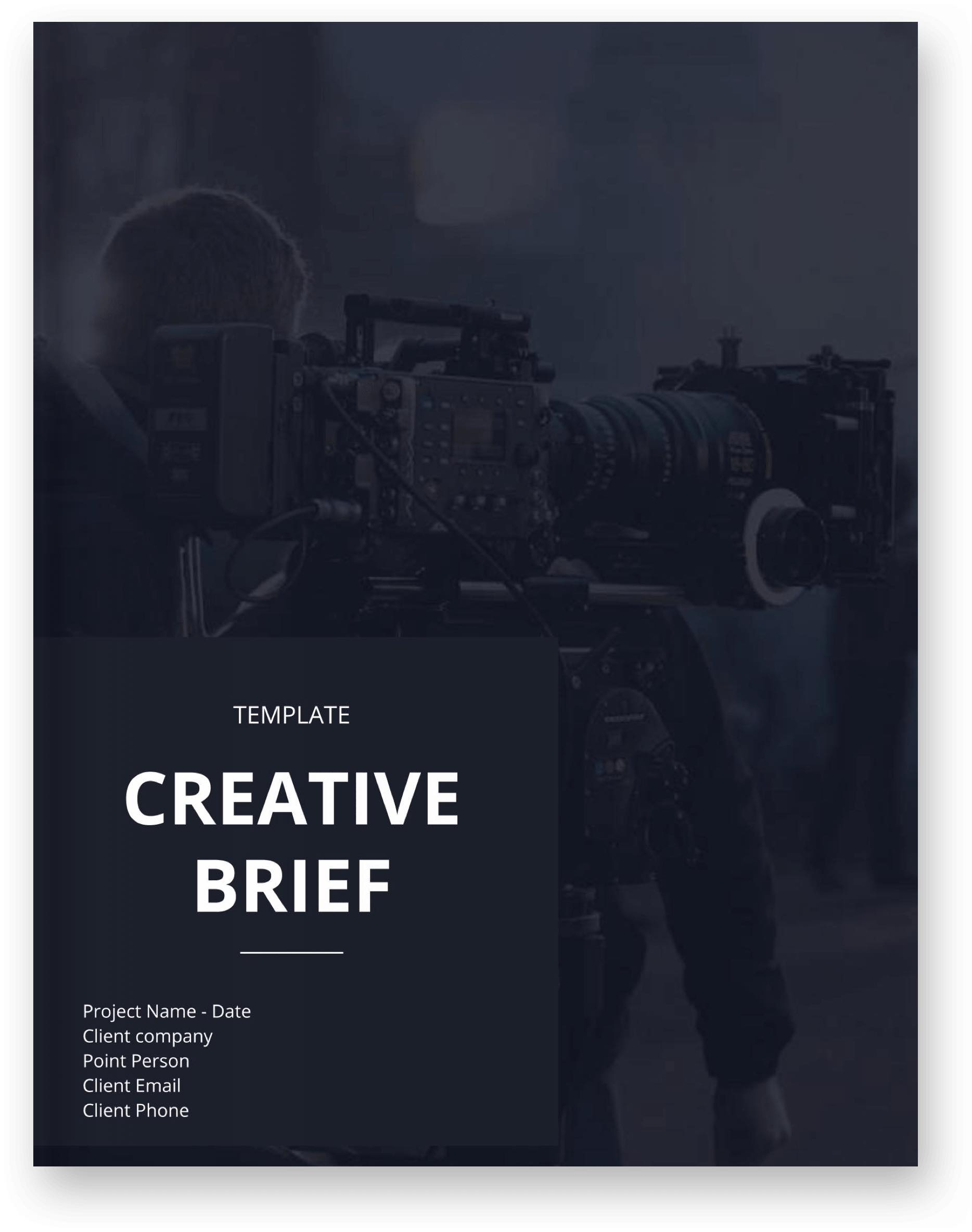 The Best Creative Brief Template For Video Agencies [Free Download] - Cover - StudioBinder