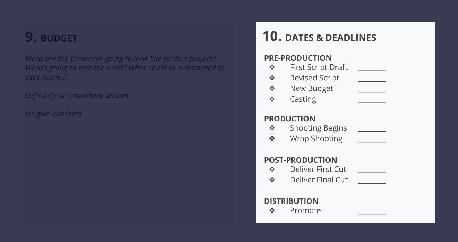 The Best Creative Brief Template For Video Agencies [Free Download] - Section 10 - Dates and deadlines