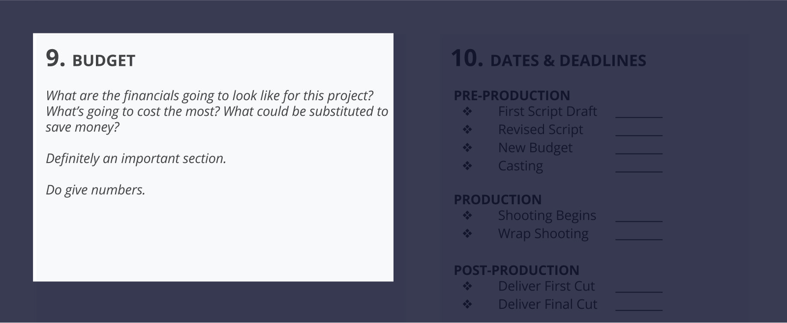 The Best Creative Brief Template For Video Agencies [Free Download] - Section 9 - Budget