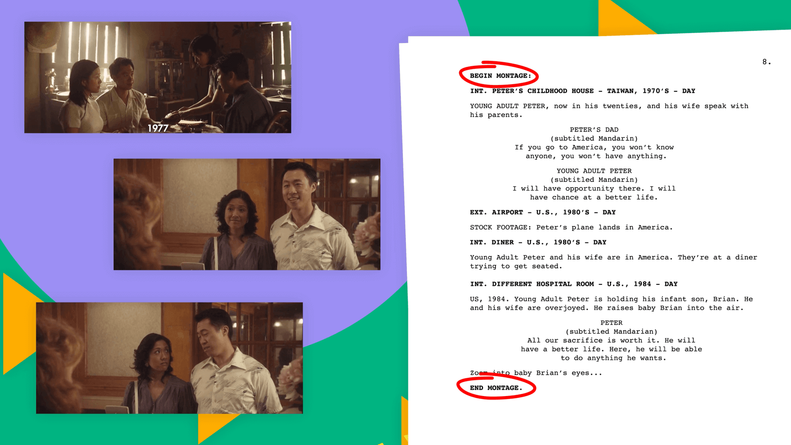 Screenplay Format - Montage - StudioBinder
