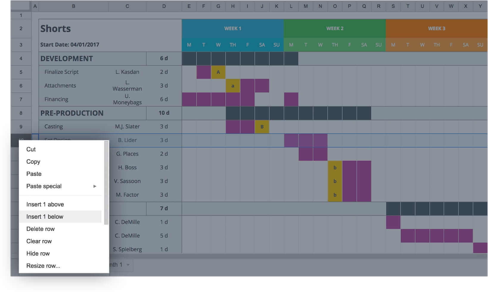 Mastering Your Production Calendar Free Gantt Chart Excel Template