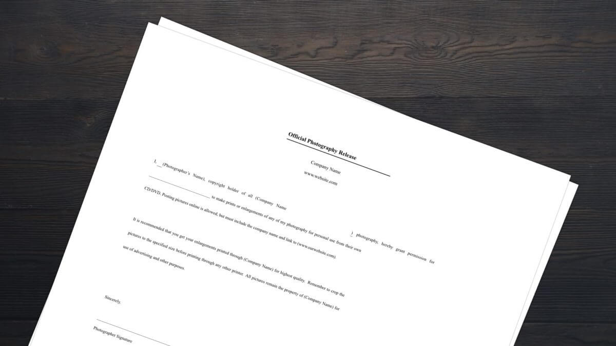Download FREE Photo Release Form Template | StudioBinder